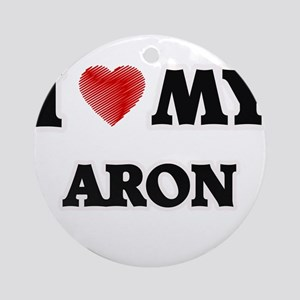 I love my Aron Round Ornament