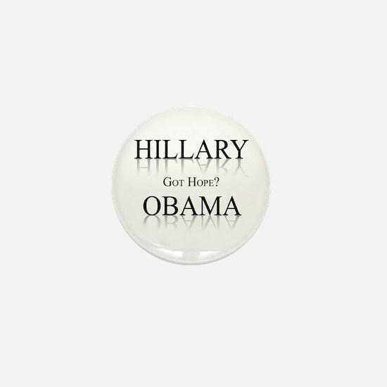 Hillary / Obama: Got Hope? Mini Button