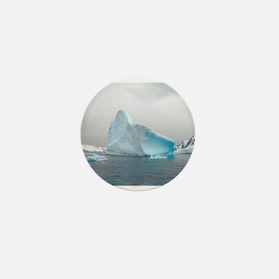Iceburg Blue Mini Button