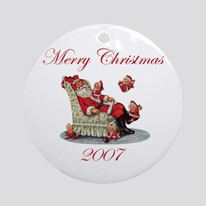 Merry Christmas 2007 Ornament (Round)