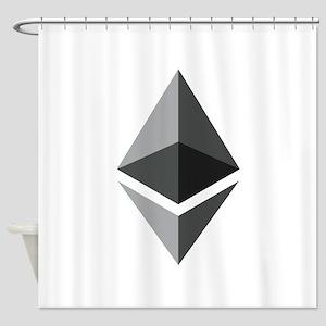 HD Ethereum Official Logo Ethereum Shower Curtain