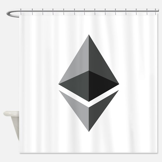 HD Ethereum Official Logo Ethereum Shower Curtain