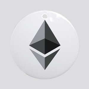 HD Ethereum Official Logo Ethereum Round Ornament