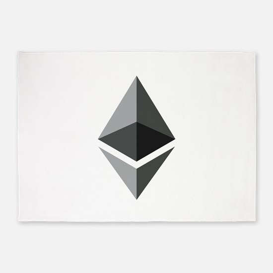 HD Ethereum Official Logo Ethereum 5'x7'Area Rug