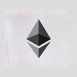 HD Ethereum Official Logo Ethereum C Throw Blanket