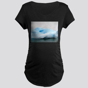 Iceburg Sculpture Maternity Dark T-Shirt