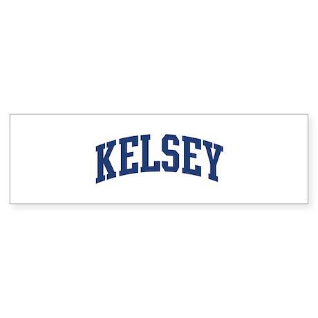 KELSEY design (blue) Bumper Sticker