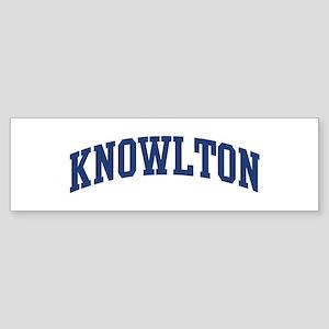 KNOWLTON design (blue) Bumper Sticker