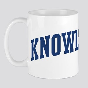 KNOWLTON design (blue) Mug