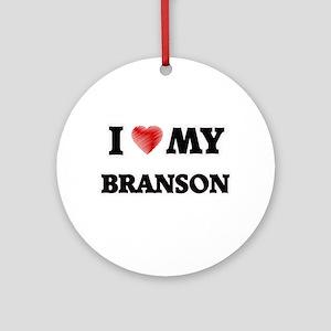 I love my Branson Round Ornament