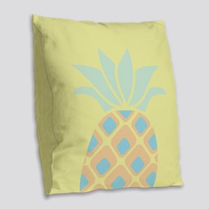 Pineapple Burlap Throw Pillow