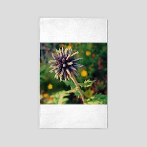 Globe Thistle, Purple Spiky Flower Area Rug