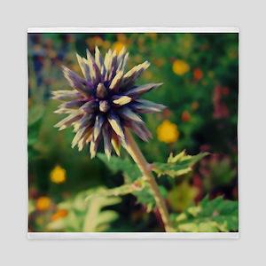 Globe Thistle, Purple Spiky Flower Queen Duvet