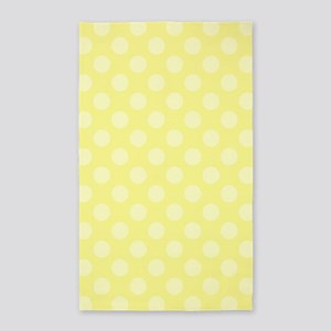 Two Tone Yellow Polka Dots Area Rug