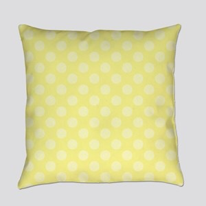 Two Tone Yellow Polka Dots Everyday Pillow