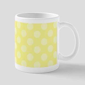 8e223cba62c86 Pale Yellow Polka Dots over Yellow Background Mugs