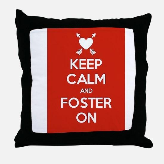 Cute Foster care Throw Pillow
