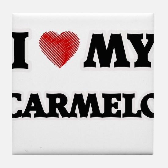 I love my Carmelo Tile Coaster
