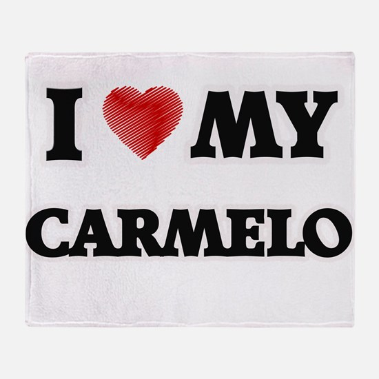 I love my Carmelo Throw Blanket