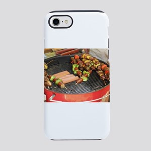 barbeque grill with with hot iPhone 8/7 Tough Case