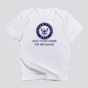 PERSONALIZED US Navy Blue White Infant T-Shirt