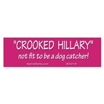 Crooked Hillary Bumper Sticker