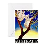 Australia Travel and Tourism Print Greeting Cards