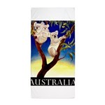 Australia Travel and Tourism Print Beach Towel