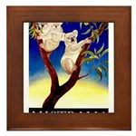 Australia Travel and Tourism Print Framed Tile