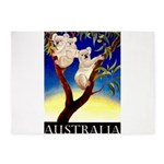 Australia Travel and Tourism Print 5'x7'Area Rug