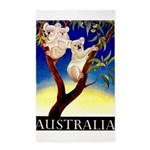 Australia Travel and Tourism Print Area Rug
