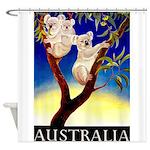 Australia Travel and Tourism Print Shower Curtain