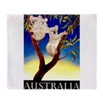 Australia Travel and Tourism Print Throw Blanket