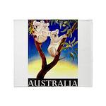 Australia Travel and Tourism Print Throw Blanket