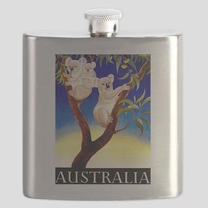 Australia Travel and Tourism Print Flask