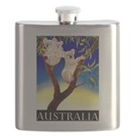Australia Travel and Tourism Print Flask