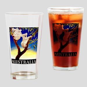 Australia Travel and Tourism Print Drinking Glass