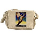 Australia Travel and Tourism Print Messenger Bag