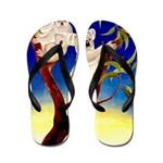 Australia Travel and Tourism Print Flip Flops