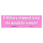 Hillary Mute Bumper Sticker
