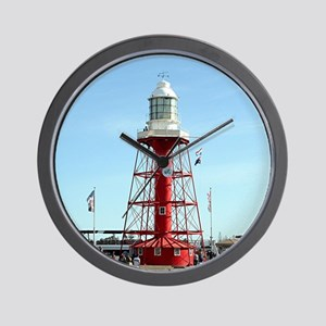 Lighthouse, Port Adelaide, Australia Wall Clock