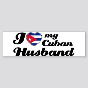 I love my Cuban Husband Bumper Sticker