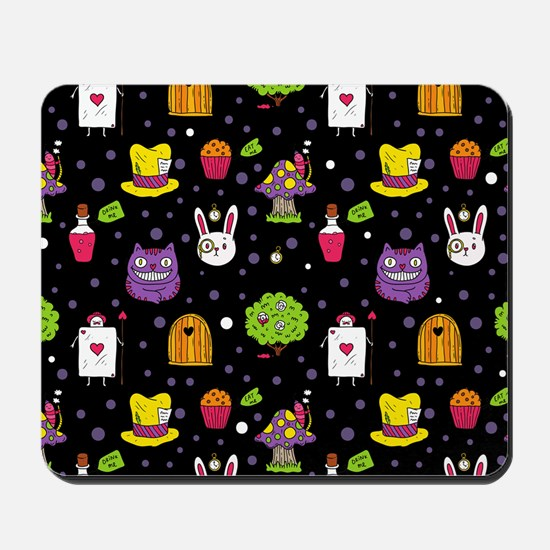 black Wonderland Mousepad