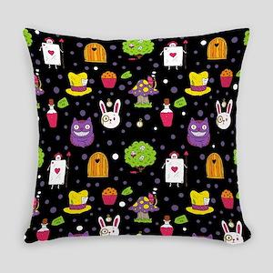 black Wonderland Everyday Pillow