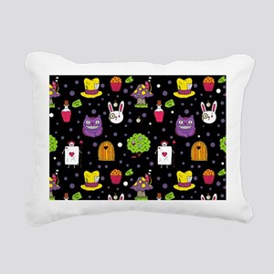 black Wonderland Rectangular Canvas Pillow