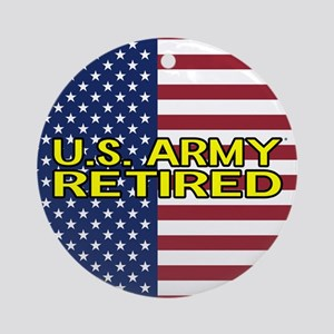 U.S. Army: Retired (American Flag) Round Ornament
