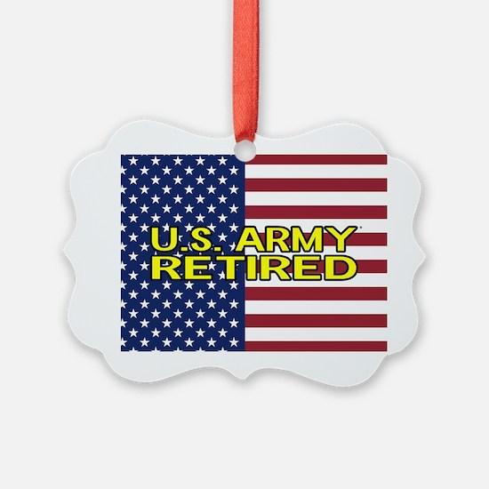 U.S. Army: Retired (American Flag) Ornament