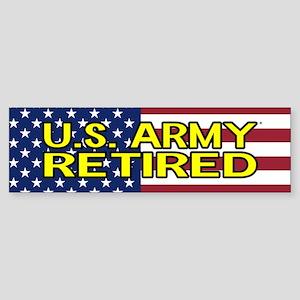 U.S. Army: Retired (American Flag) Bumper Sticker