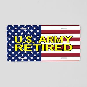U.S. Army: Retired (American Flag) Aluminum Licens