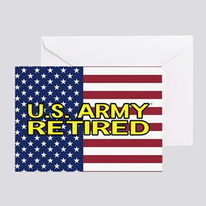 U.S. Army: Retired (American Flag) Greeting Cards